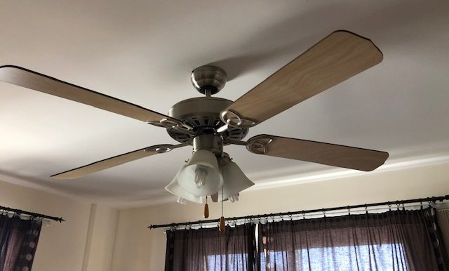 Ceiling fans and air conditioning